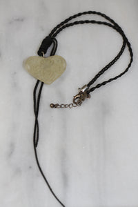 Express Clear Heart Rose Decorative Necklace