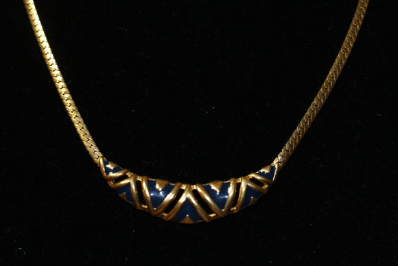 Gold Herringbone Necklace