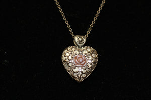 1928 Heart Locket Necklace