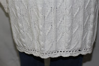 Jacque & KoKo Cotton Ramie Bland White Decorative Sweater (22-24)