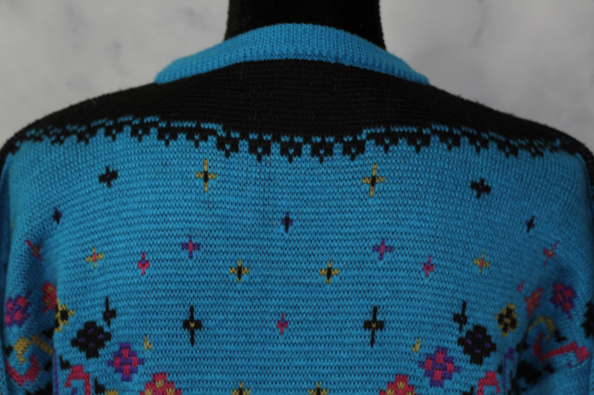 Mount Cervin Blue Wool Sweater (L)