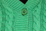 Jones New York Green Cable Knit 100% Cotton Sweater (M)