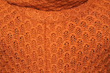 Deep Orange Slouch Neck Sweater (S)