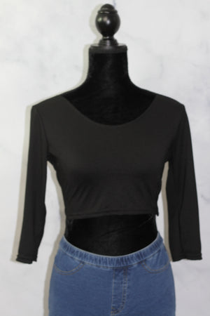 Black Cross Back Top  (S)
