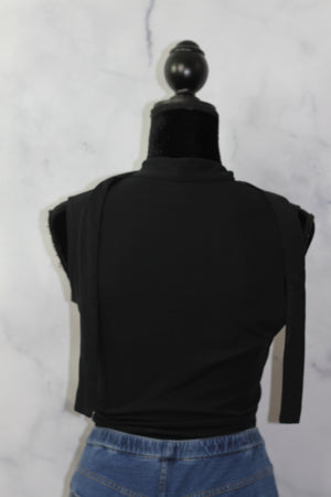Express Black Tie Top (m)