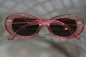 Clear & Pink Round Sunglasses