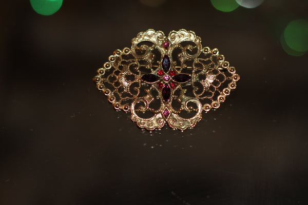 24k Gold Brooch