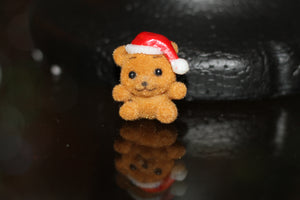 Cute Brown Christmas Bear Brooch