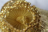 Jody G. for Sylvia Gold Shimmer  Hat with Large Gold Rose