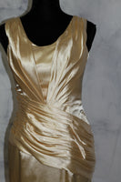 Gold Silk Formal Gown with train (8)