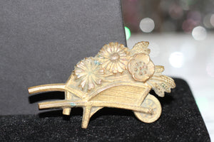 Gold Wagon Brooch