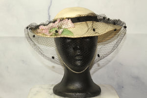 Lords Grace and Elegance Floral Veil Victorian Hat