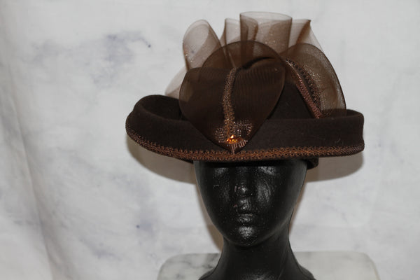 Brown Chocolate Wool Pill Box Hat (8)