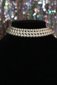 Three Tier Pearl Fitted Necklace
