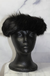 Wool Fur Black Round Hat