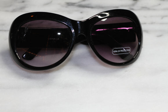 Black & White Stripe Sunglasses