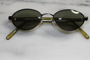 Gold & Green Round Sunglasses