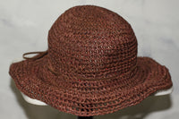 Seagrass Brown Straw Wide Brim Hat