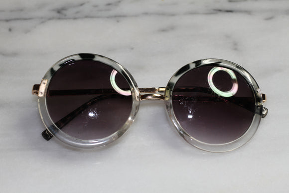 Gold & Clear Round sunglasses