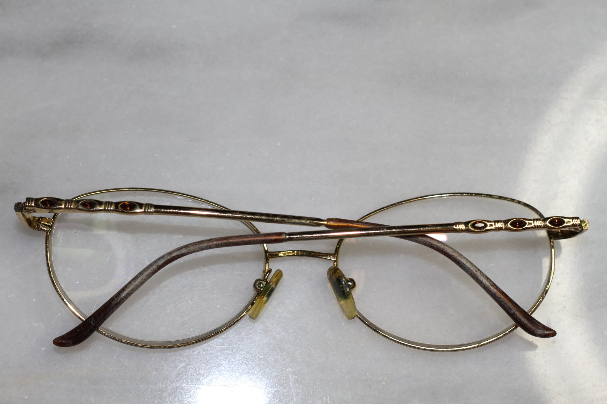 3bc81d9077 CAROLEE Prescription Round Gold Rx Frames Glasses – The Love of Fashion