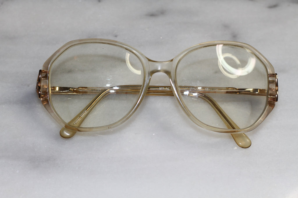 Marchon Blue Ribbon Clear & Gold Frames - Eyeglasses