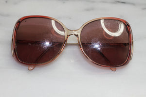 70's Gold & Red Aviator Rx Frames Glasses