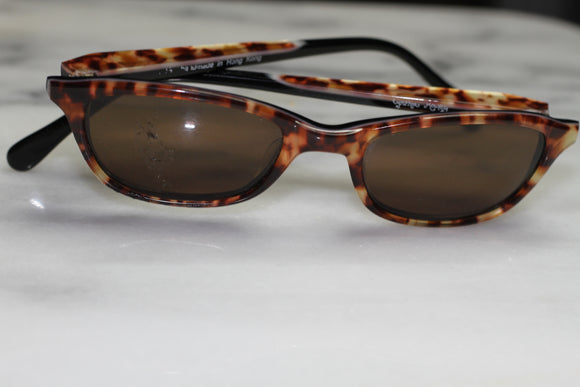 Cynthia Rowley Tortoise Rectangle Sunglasses