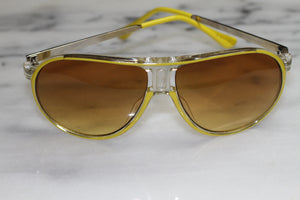 Hand Polished  Silver & Yellow Sunglasses