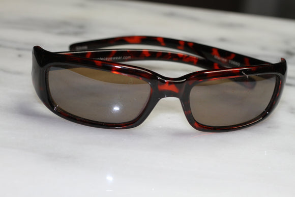 Red Turquoise Wrap Around Sunglasses