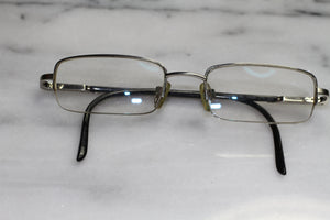 1970's Menrad Black Metal Eyeglasses