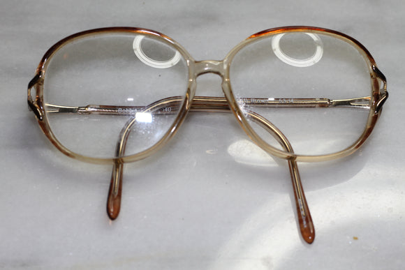 Bobbi Brooks Gold & Brown Rx Frames Glasses
