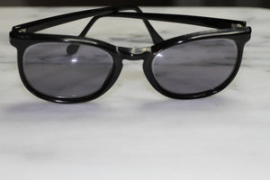 Black  Hand Polished Rectangle Sunglasses