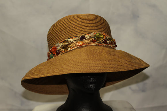 Cappelli Straw Ord, Inc. Paper Vegan Beaded Boater Hat