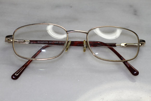 Boulevard Boutique Gold  Oval Rx Frames  - Glasses