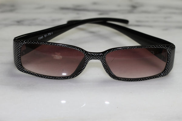 Black & White Polka Dot Rectangle Sunglasses