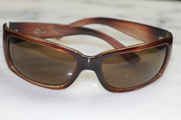 Brown Rectangular Sunglasses