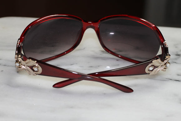 Candy Red Aviator Round Sunglasses