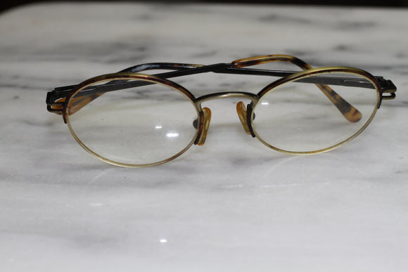 Gold & Brown Round Rx Frames - Glasses