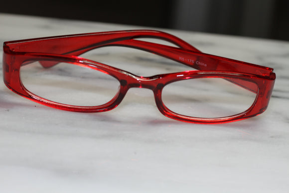 Candy Red Rectangular  Rx Frame - Glasses