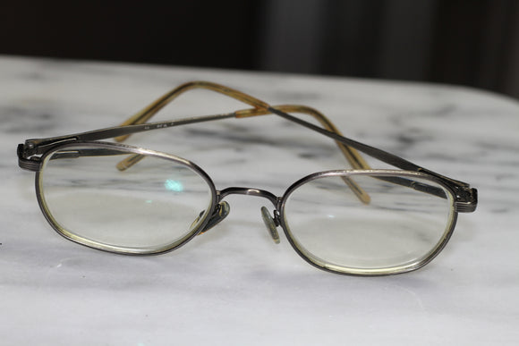 Personal Optics Maritius Brown Oval Rx Frames  014
