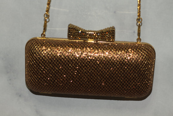Gold Sparkle Barrel Bag