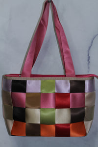 Patched Multi Color Handbag