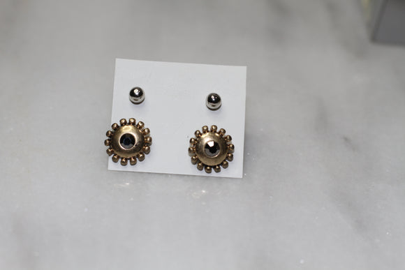 Gold Earrings (2pc set)