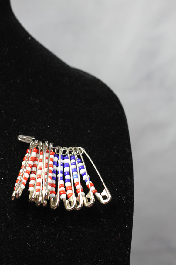 Red White & Blue Brooch