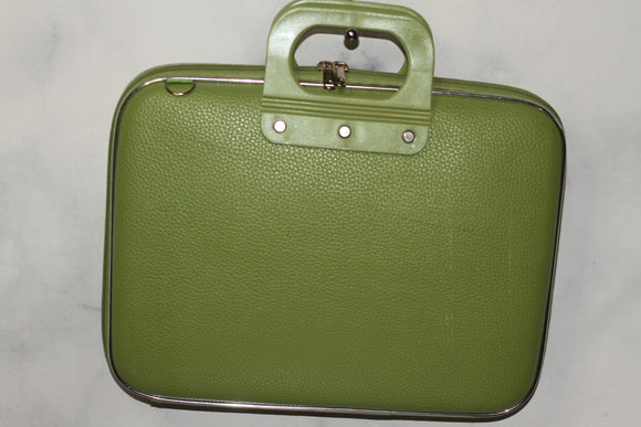 Vegan Leather Green Computer Bag