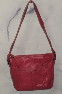 Leather Soft Pink Hobo Bag