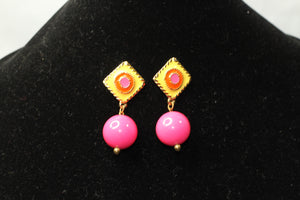 Pink & Yellow Gold Earrings