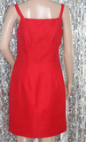Citi Dress Red Cotton,  Sheath Dress(6)