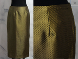Gold and Black Pencil Skirt (8)