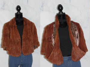 New Williams Brown Fur Shawl Cape